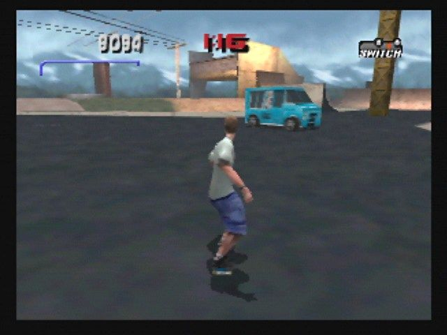 Tony Hawk's Pro Skater 3 Nintendo 64 The environments are interactive.  Like this ice cream truck, for example....