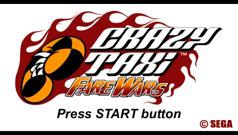 Crazy Taxi: Fare Wars PSP Title screen