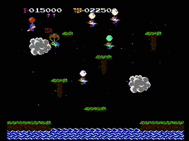 Balloon Fight NES Try to pop your opponents balloons