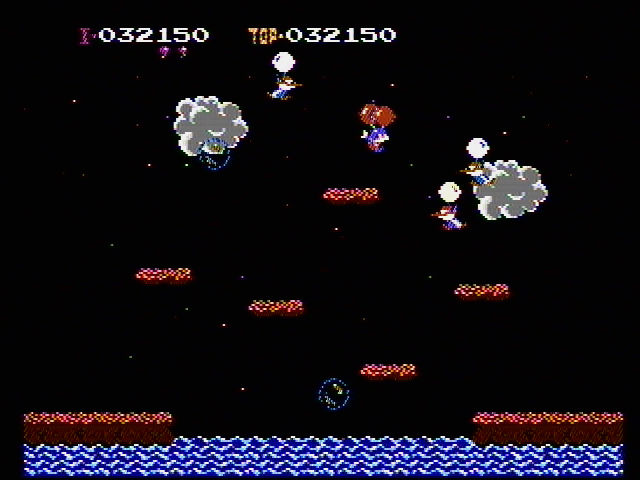 Balloon Fight NES Pop the bubbles for extra points