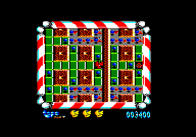 Mad Mix Amstrad CPC I ate an item that allows me to burn the ghosts.
