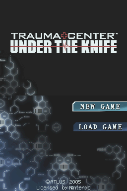 Trauma Center: Under the Knife Nintendo DS Title screen