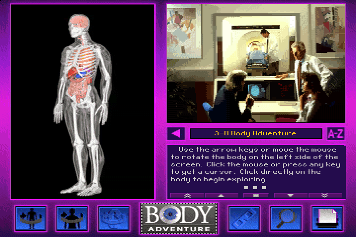3-D Body Adventure DOS The 3D Virtual body with instructions