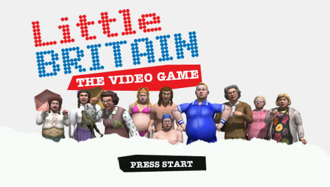 Little Britain: The Video Game PSP Title Screen