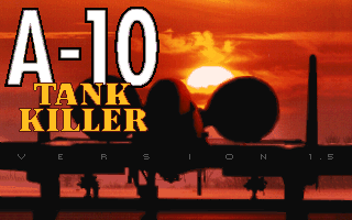 A-10 Tank Killer DOS Title Screen (v1.5)