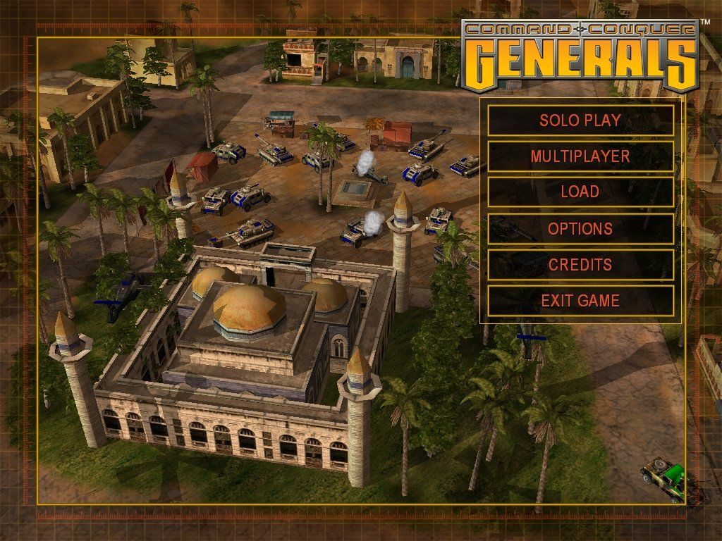 Command & Conquer: Generals Windows The main menu.
