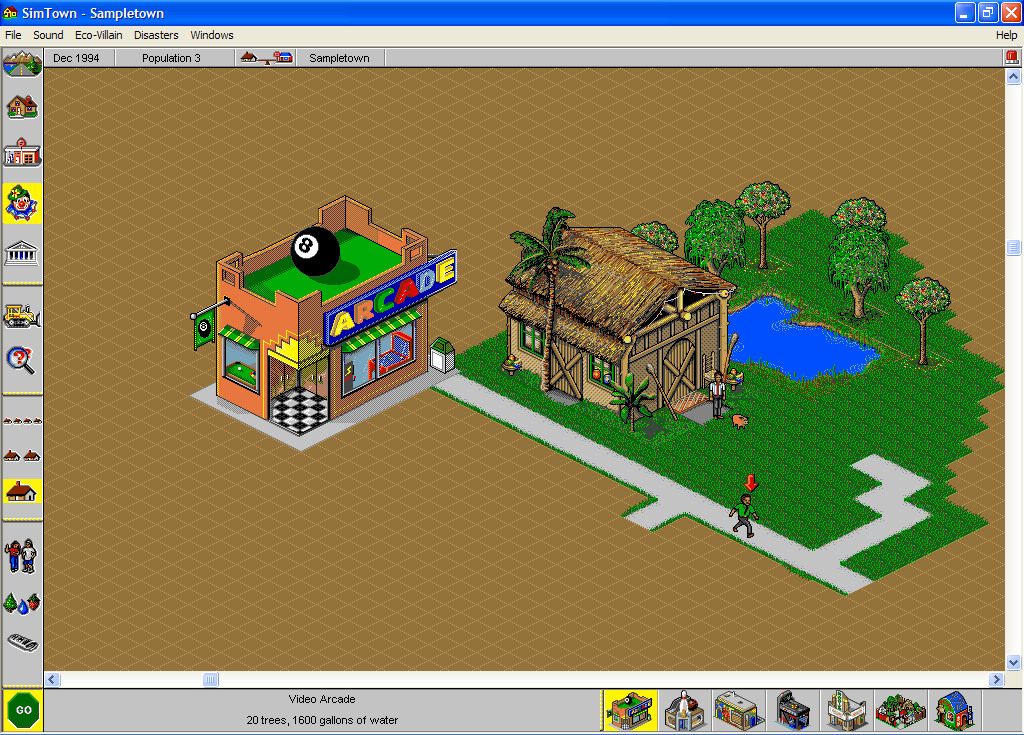 SimTown Windows You can also add businesses like arcades