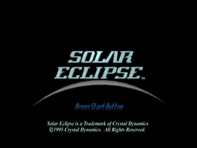Solar Eclipse SEGA Saturn Title Screen