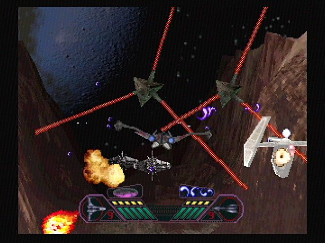 Solar Eclipse SEGA Saturn The Second Mission: Shoot the centers to stop them from rotating.