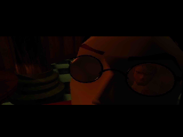 Tomb Raider DOS Intro. The famous glasses!..