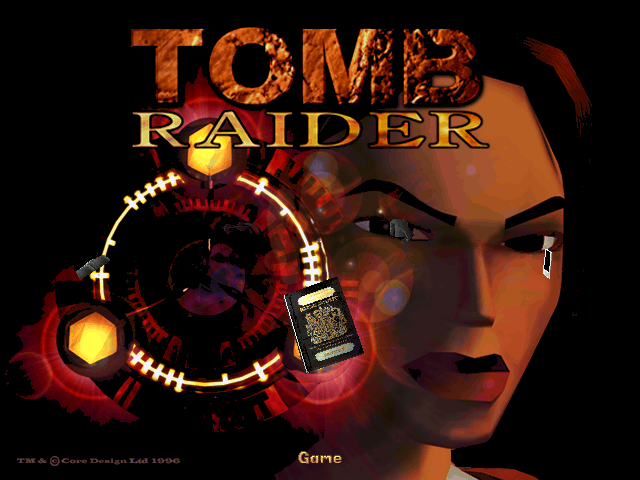 Tomb Raider DOS Title screen