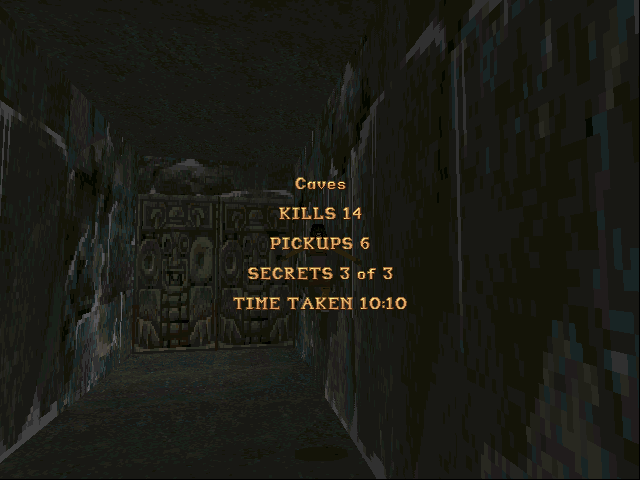 Tomb Raider DOS End of the first area. Are you sure you have discovered everything?..