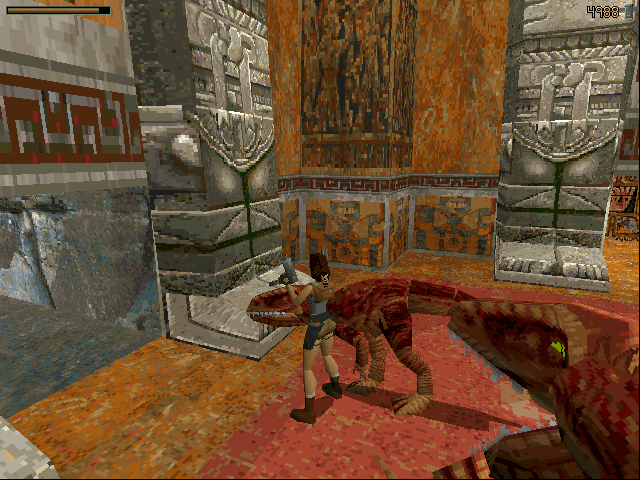Tomb Raider DOS When raptors rush in...
