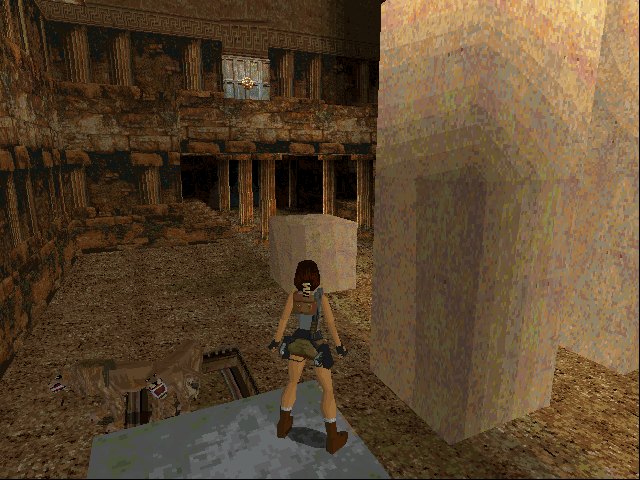 Tomb Raider DOS Trying not be eaten by lions in Greece
