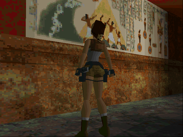 Tomb Raider DOS Reading long-lost hieroglyphs...