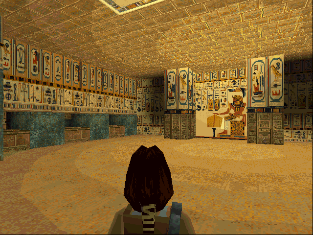 Tomb Raider DOS A beautifully decorated room.