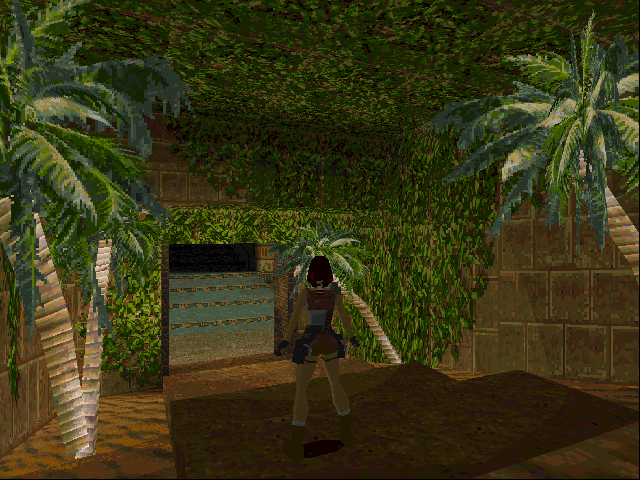 Tomb Raider DOS Palms, in a tomb?