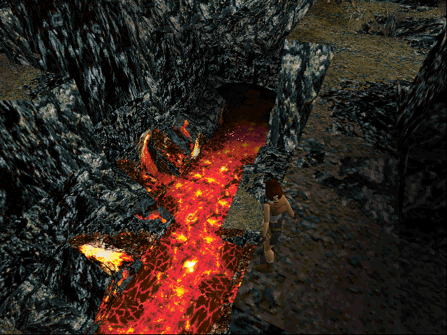 Tomb Raider DOS That's some nasty looking lava!..