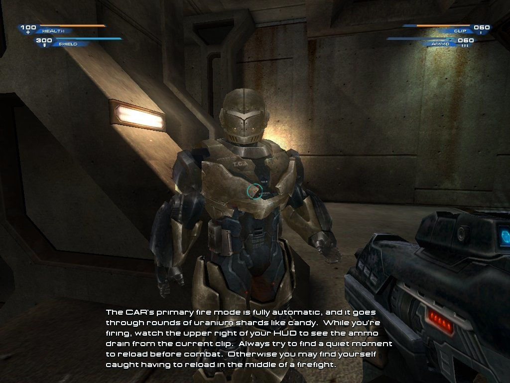 Unreal II: The Awakening Windows This hologram instructs you on weapon usage, and gives you a chance to fire them.