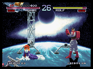 Galaxy Fight: Universal Warriors Neo Geo He literary swept the floor with her