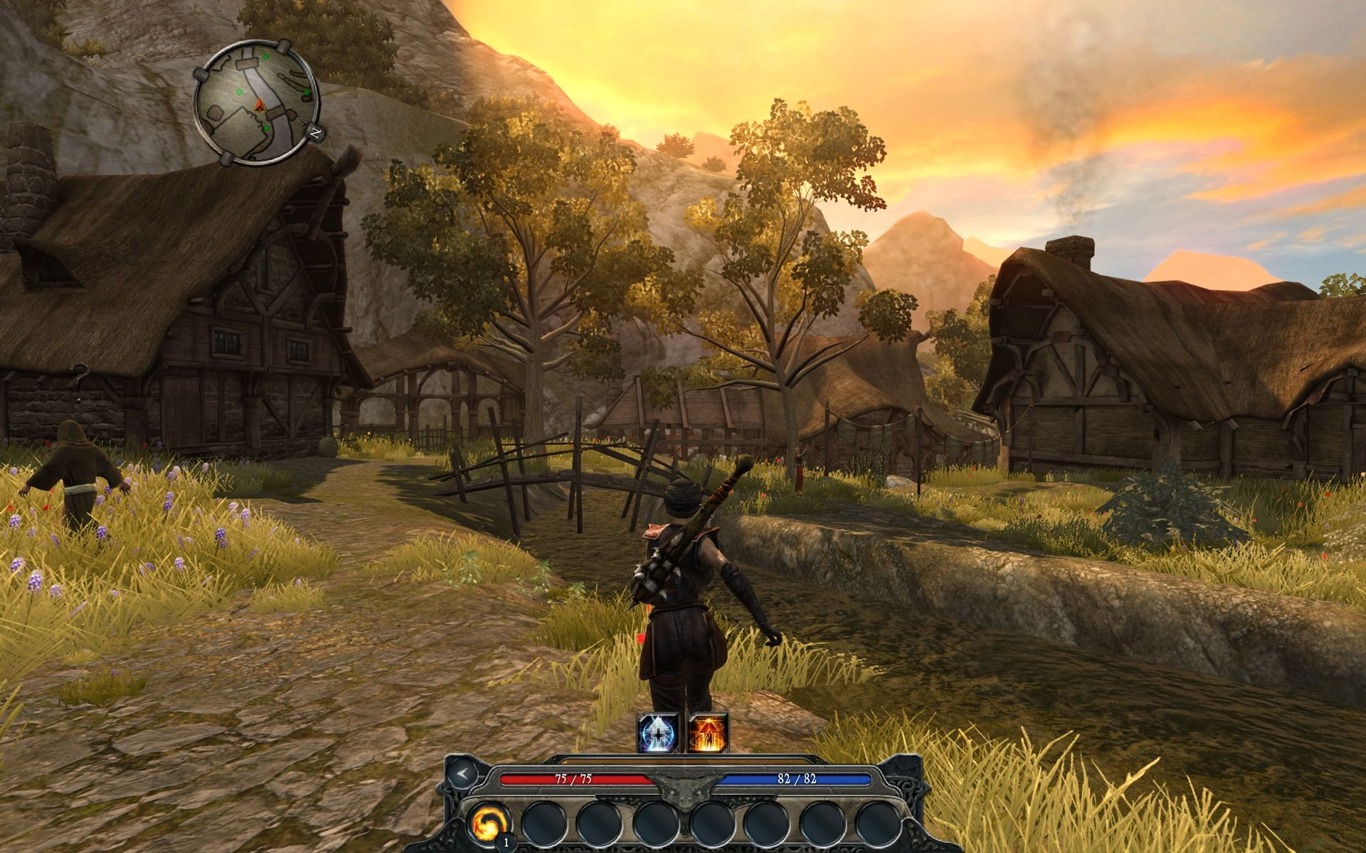 Divinity II: Ego Draconis Windows The first village on your journey is a bit small.