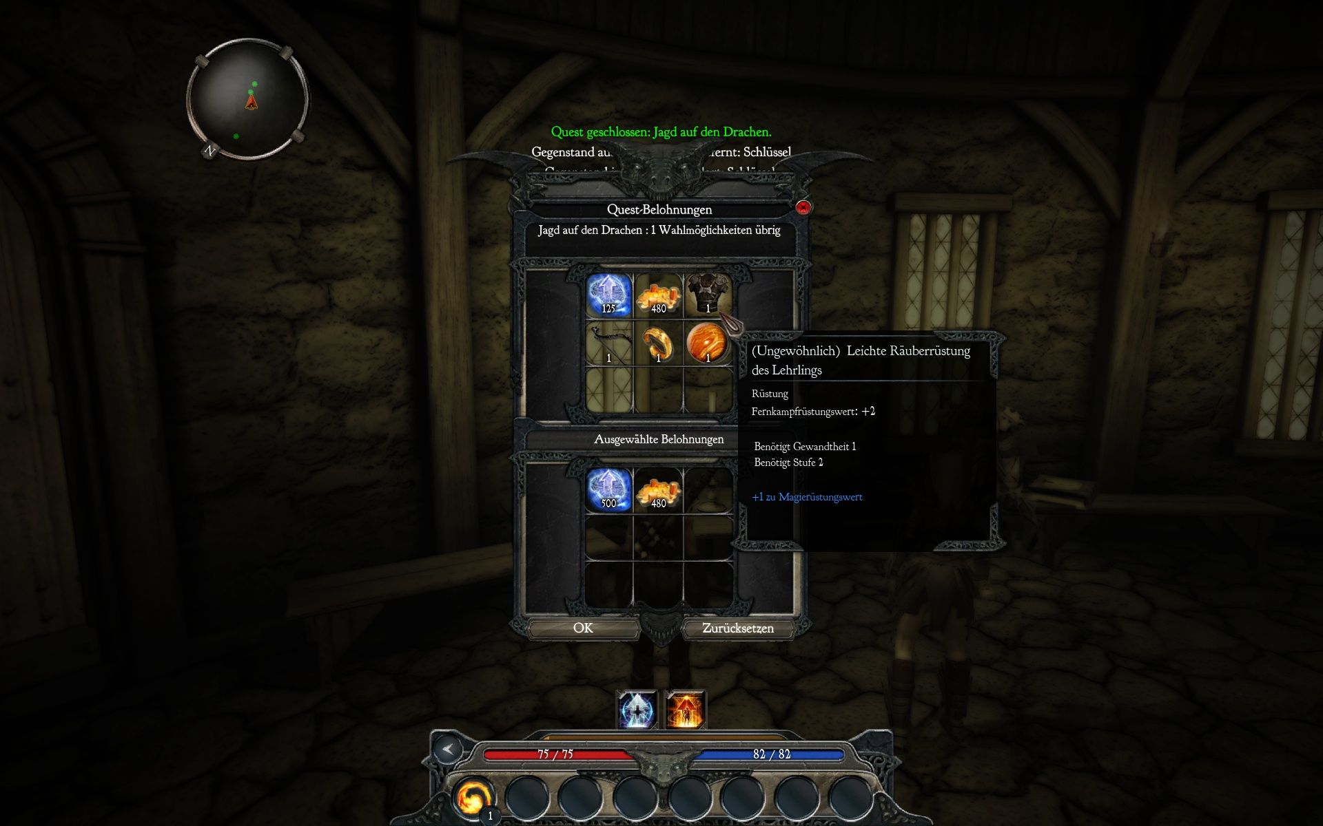 Divinity II: Ego Draconis Windows At the end of each quest you can choose between different rewards