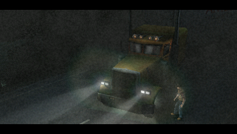 Silent Hill: 0rigins PSP You just hit a little girl with your truck and are searching for her.