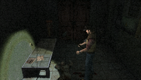 Silent Hill: 0rigins PSP Your character will turn his head towards important items.