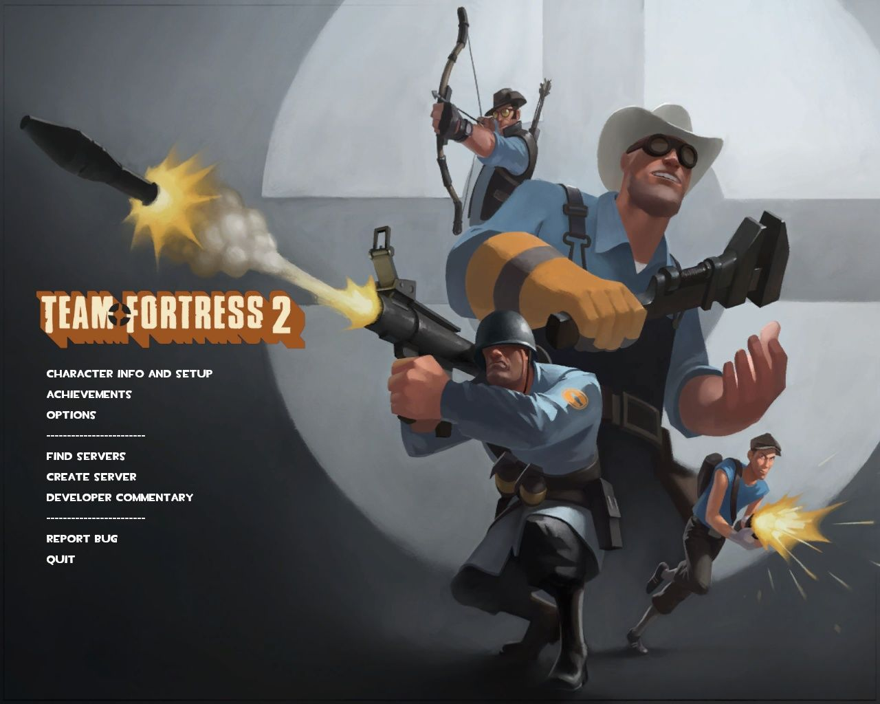 Team Fortress 2 Windows The August 13, 2009 upgrade included a new menu screen, and several new hats.