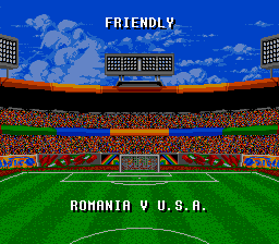 Championship Soccer '94 SNES Match-up screen
