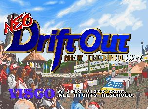 Neo Drift Out: New Technology Neo Geo CD Title Screen