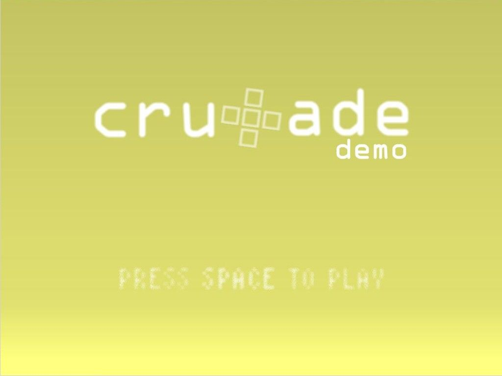 Cruxade Windows Title screen (Demo version)