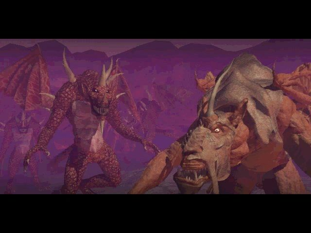 Planescape: Torment Windows Monsters in the intro movie. There is a great war going on...