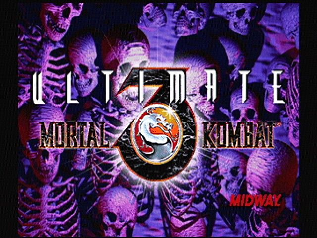 Ultimate Mortal Kombat 3 SEGA Saturn Title Screen