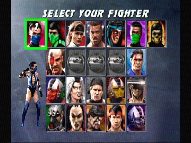 Ultimate Mortal Kombat 3 SEGA Saturn Character Selection