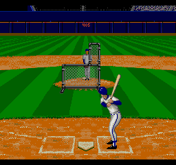 ESPN Baseball Tonight SEGA CD Practicing