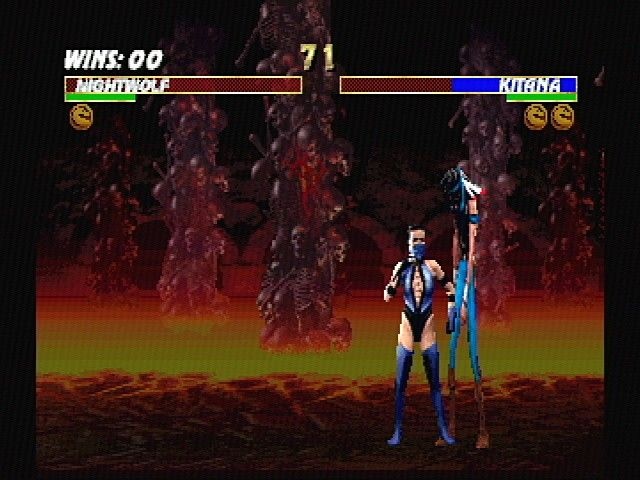 Ultimate Mortal Kombat 3 SEGA Saturn One of Kitana's fatalities
