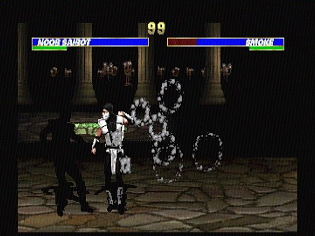 Ultimate Mortal Kombat 3 SEGA Saturn Noob Saibot vs. Smoke
