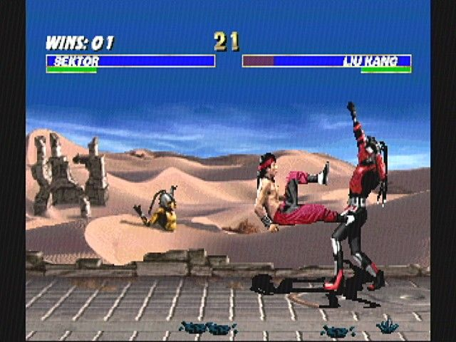 Ultimate Mortal Kombat 3 SEGA Saturn Sektor vs. Liu Kang