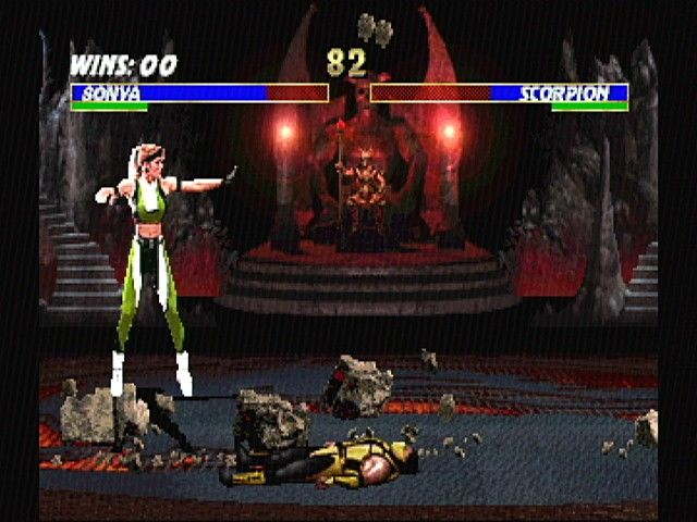 Ultimate Mortal Kombat 3 SEGA Saturn Sonya vs. Scorpion