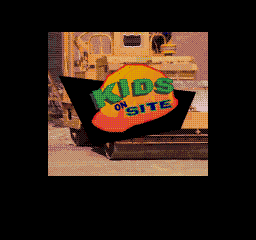 Kids on Site SEGA CD Title screen