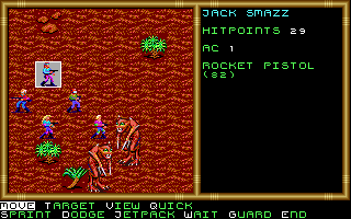 Buck Rogers: Countdown to Doomsday DOS A battle on Mars against desert apes.