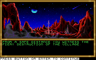 Buck Rogers: Countdown to Doomsday DOS The Martian village is destroyed by RAM.