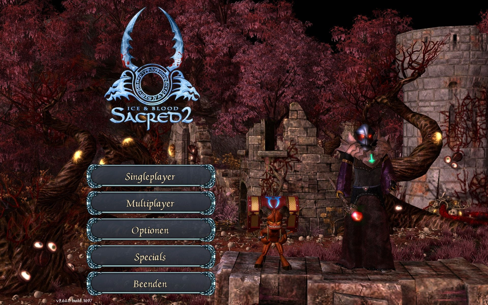 Sacred 2: Ice & Blood Windows Main Menu