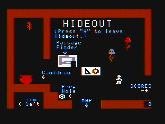 Think Quick! DOS In your hideout (CGA with composite monitor)