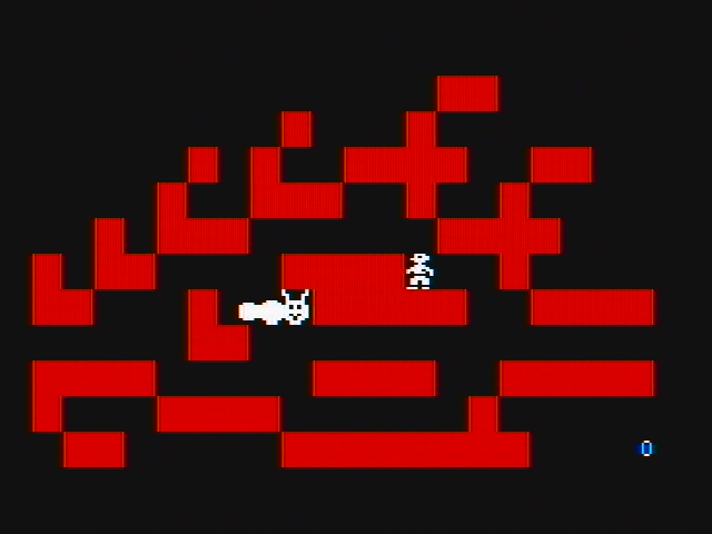 Think Quick! DOS Tougher levels have some bizarre shapes (CGA with composite monitor)