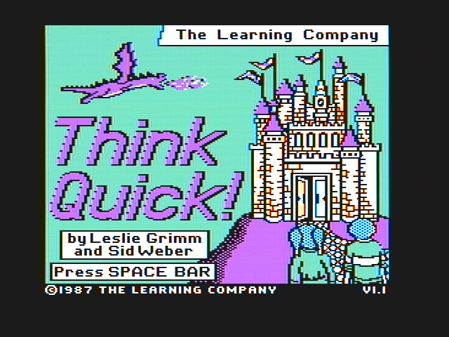 Think Quick! DOS Title screen (CGA with composite monitor)