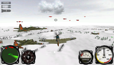 Air Conflicts: Aces of World War II PSP Multiple targets during a bomber escort mission