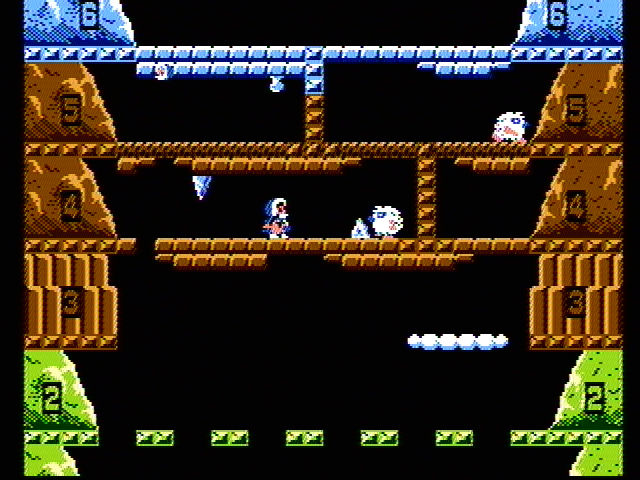 Ice Climber NES Watch out for falling icicles...
