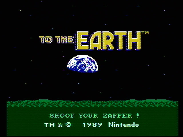 To the Earth NES Title screen